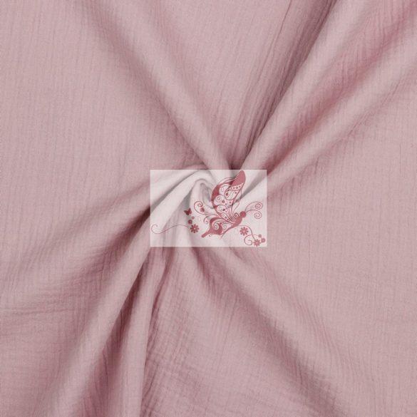Halvány lila - dupla géz (GOTS)