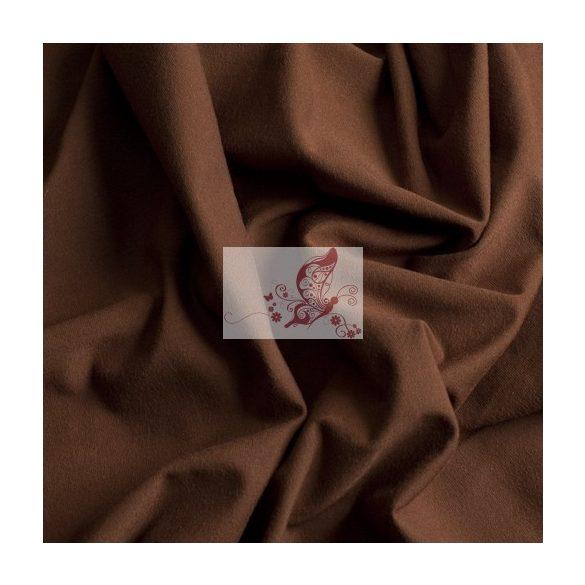 Barna - egyszínű pamutjersey