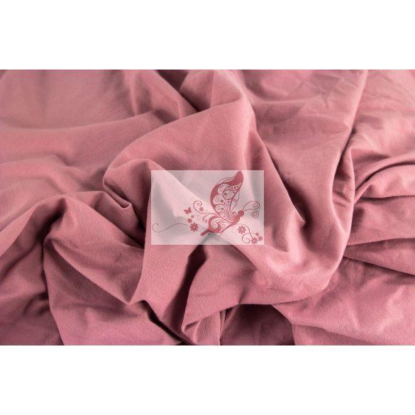 Régi rózsa - egyszínű pamutjersey