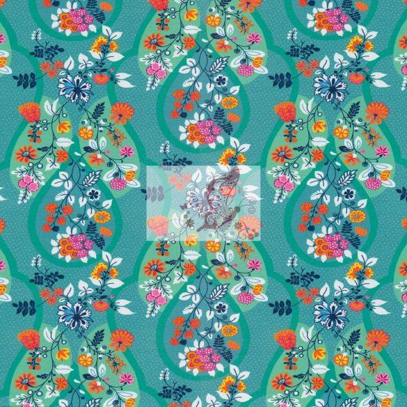 Virágfüzérek - mintás pamutjersey