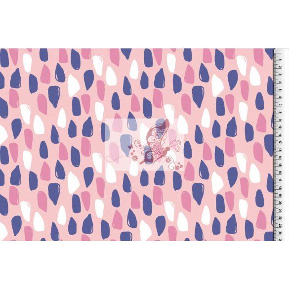 Csöppek - rózsaszín - organikus pamut jersey