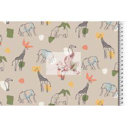 Trópusi állatok - organikus pamut jersey