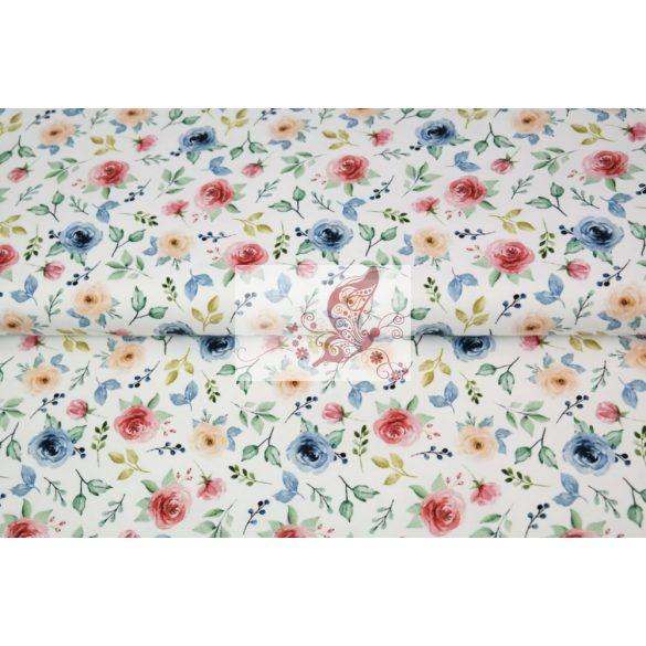 Rózsák - mintás pamut jersey