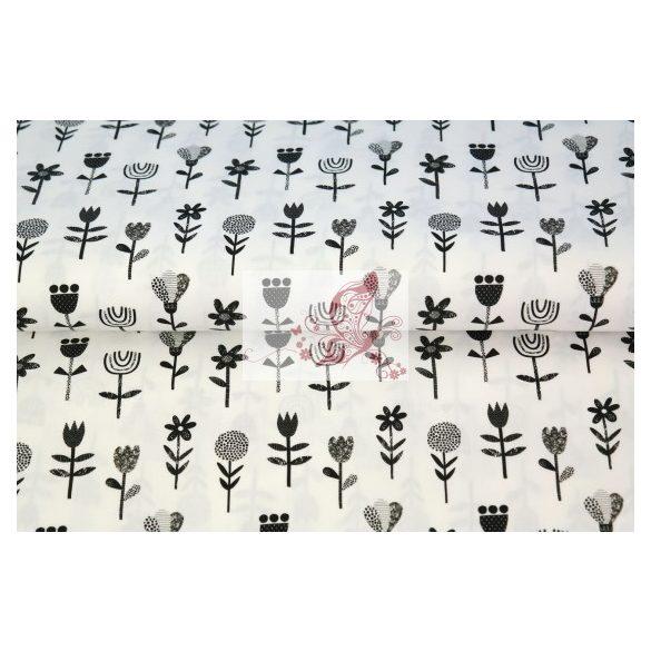 Virágok - pamut vászon