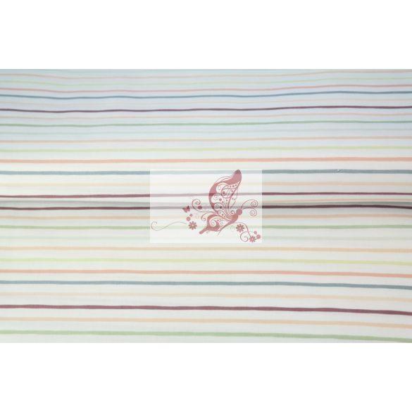Színes csíkok - prémium pamut vászon