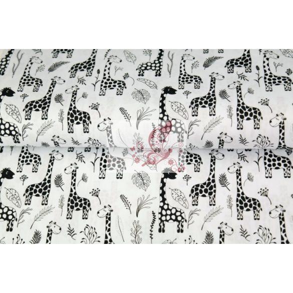 Zsiráfok - mintás pamut vászon