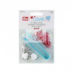 Prym Love Jersey patentozó szett 8 mm-es (piros)