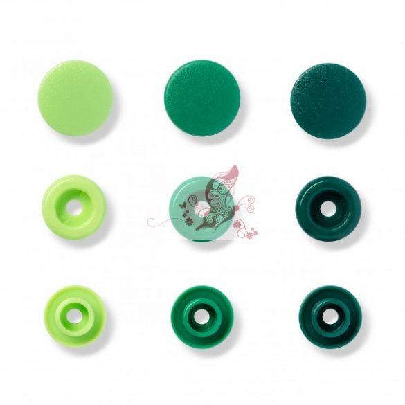 Prym love műanyag patent - zöld árnyalatok