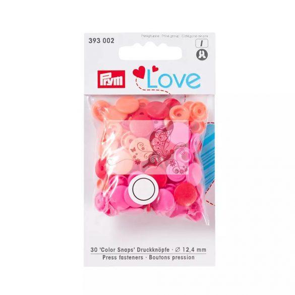 Prym love patent - piros, rózsaszín, korall