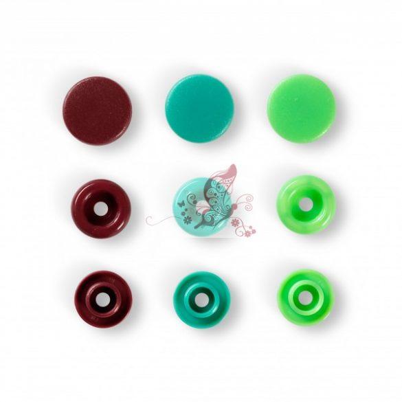 Prym love műanyag patent - zöld-barna