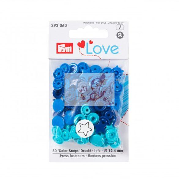 Prym Love csillag alakú patent - kék-türkiz-sötétkék