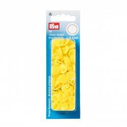 Műanyag patent - világos sárga