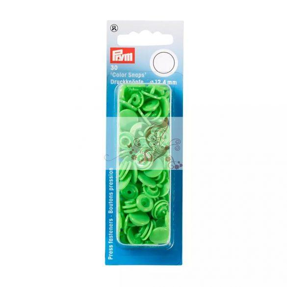 Műanyag patent - világos zöld