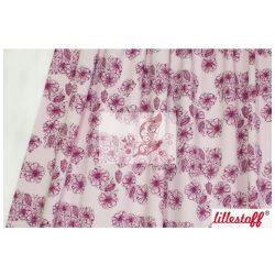 Nyári virágok - mintás pamutjersey