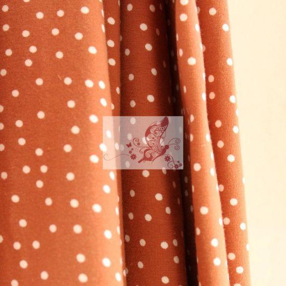 Karamell pöttyök - pamut jersey