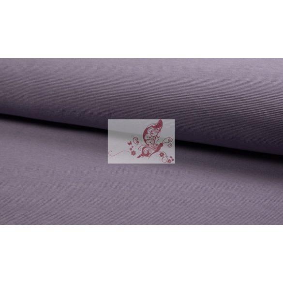 Bordázott jersey - füstös lila
