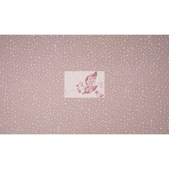 Pöttyök - füstös rózsaszínű pamut jersey