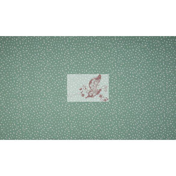 Konfetti - zöld színű pamut jersey