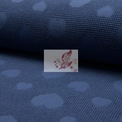 Szívecskés darázsszövet anyag - sötét kék