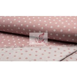 Régi rózsaszín pöttyök - jacquard dupla vászon