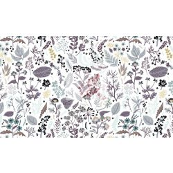 Virágos rét - organikus pamut vászon