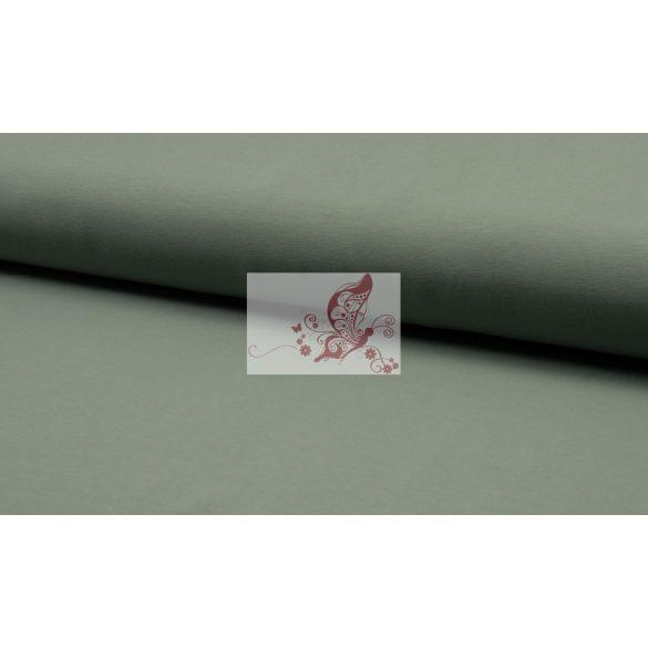 Füstös menta - organikus pamut jersey