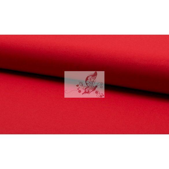 Piros - egyszínű pamut jersey