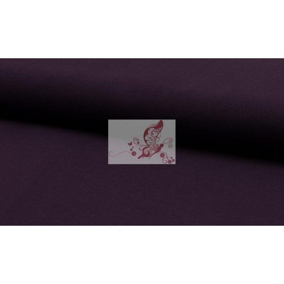 Padlizsán - egyszínű pamutjersey