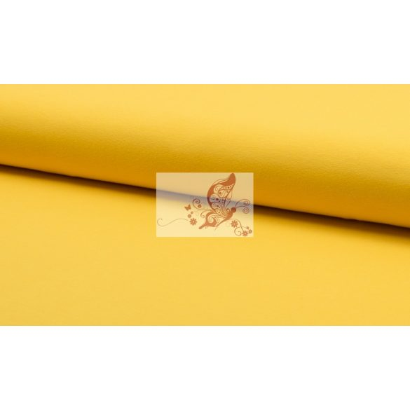 Sárga - egyszínű pamut jersey