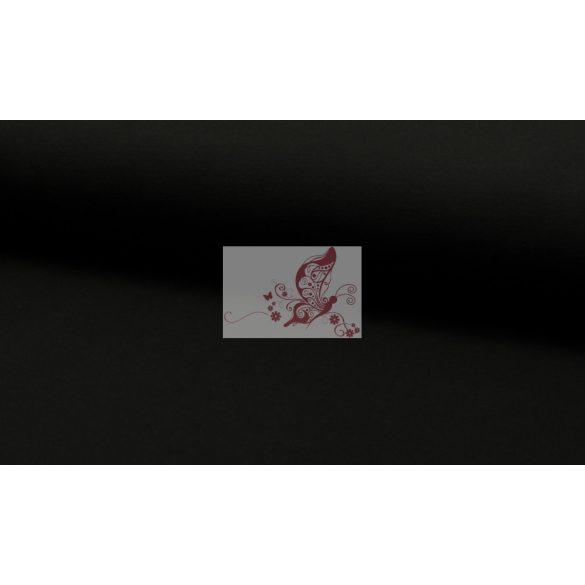 Fekete pamutjersey
