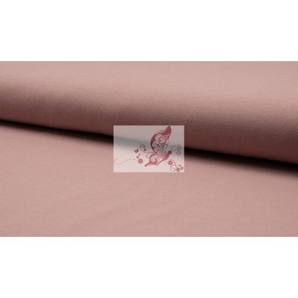 Füstös rózsaszín - egyszínű pamut jersey