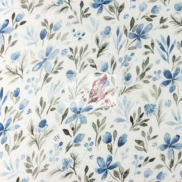 Kék virágok - organikus dupla géz