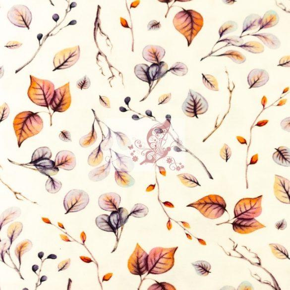 Őszi természet  - mintás pamut jersey
