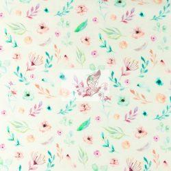 Apró virágok - mintás pamut jersey