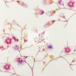 Pink virágok - dupla géz