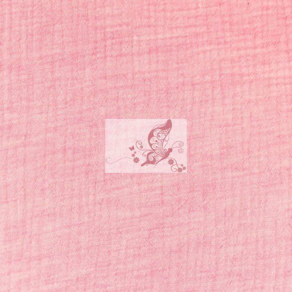 Rózsaszín - melange - dupla géz