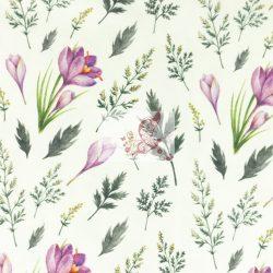 Tavaszi virágok - pamut jersey