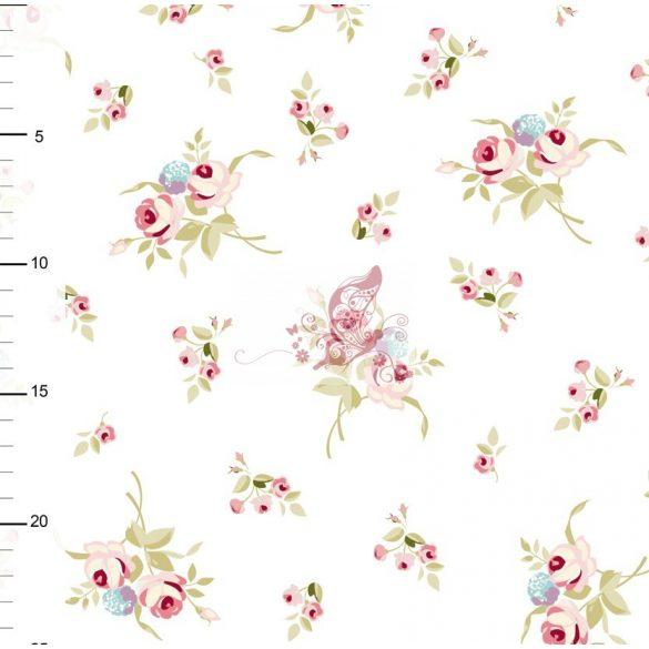 Alva - apró rózsa mintás pamutjersey