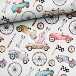 Retró autók - pamut jersey
